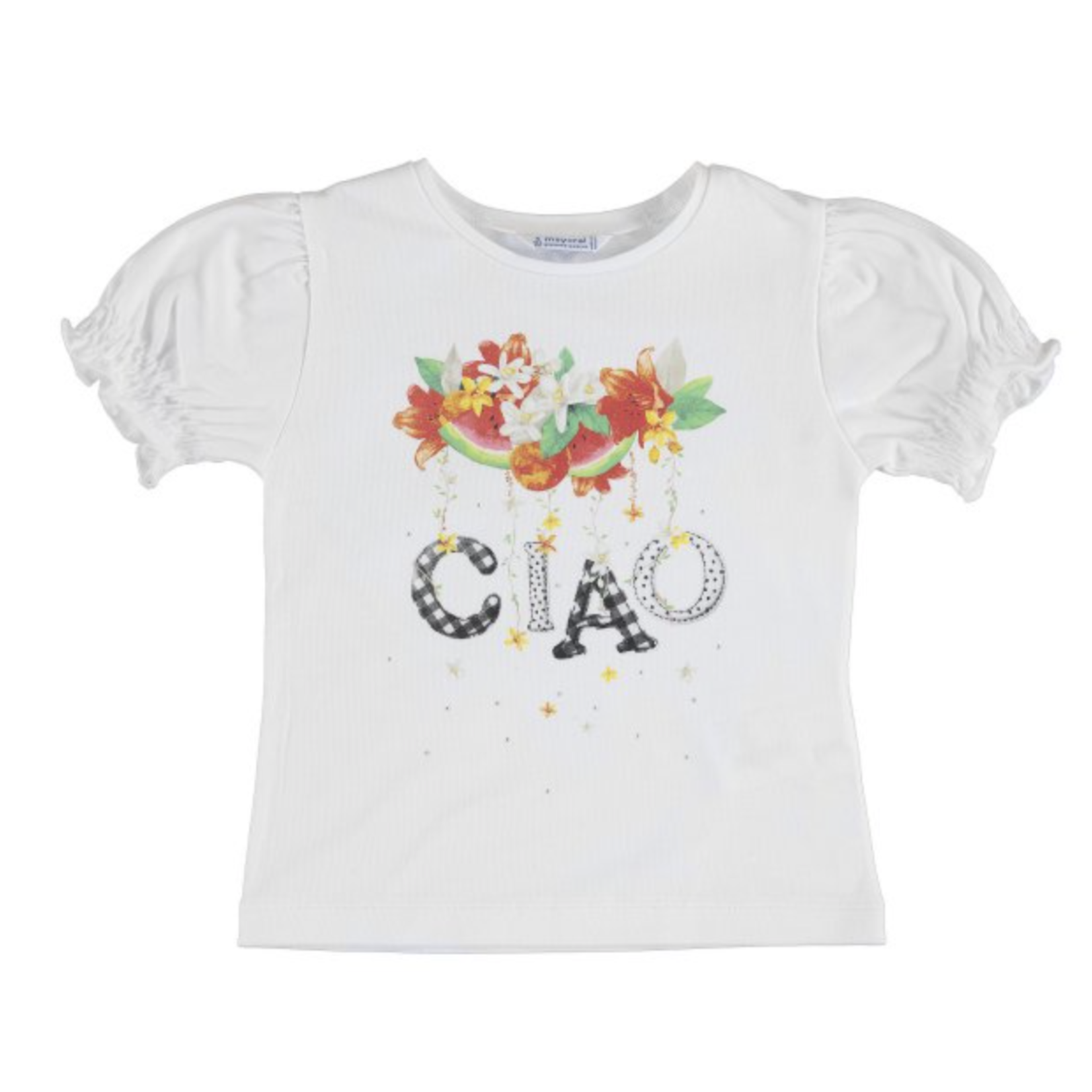 Mayoral s/s ciao t-shirt White