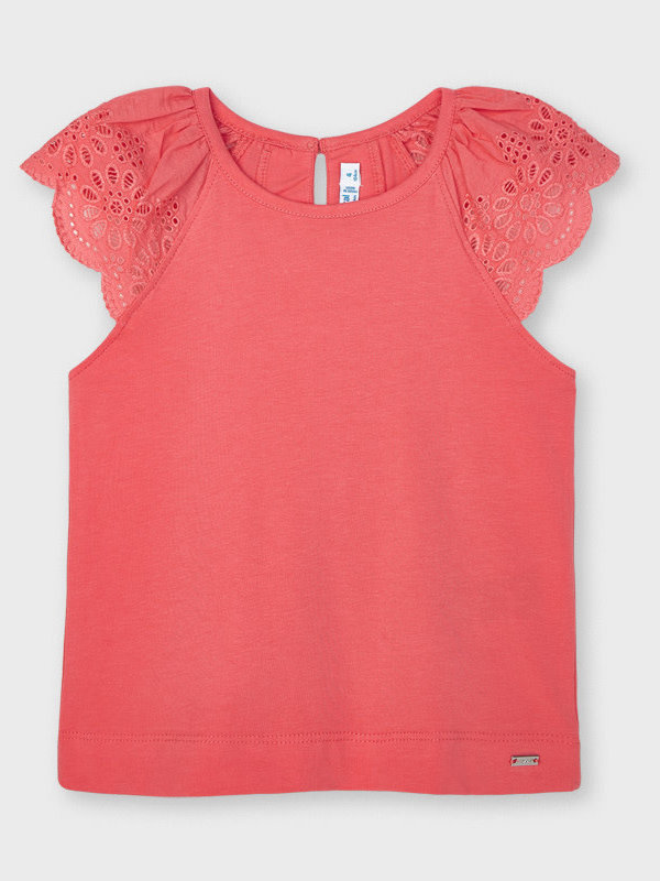 Mayoral sleeveless t-shirt   Coral
