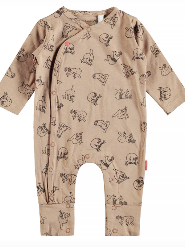 Little Bampidano Little Bampidano newborn overall Feike AO/check with turnback feet SLOTH