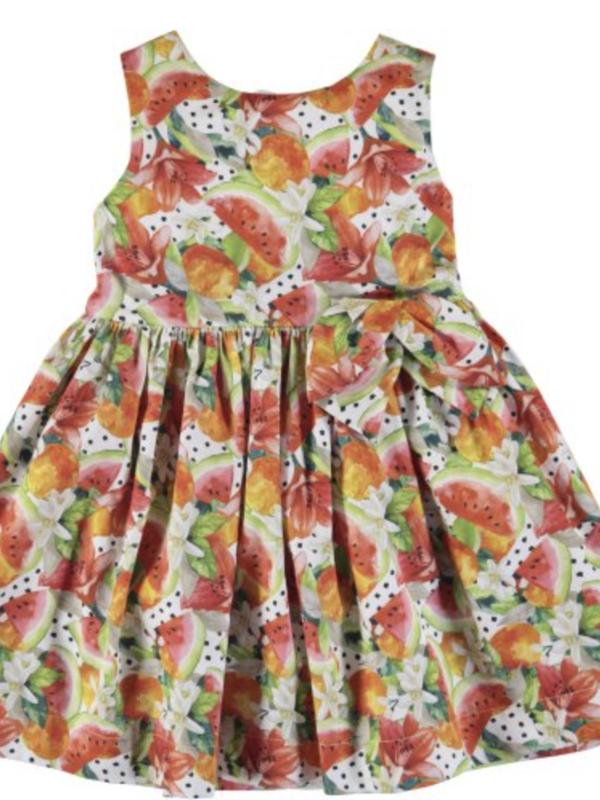 Mayoral Printed dress Persimmon