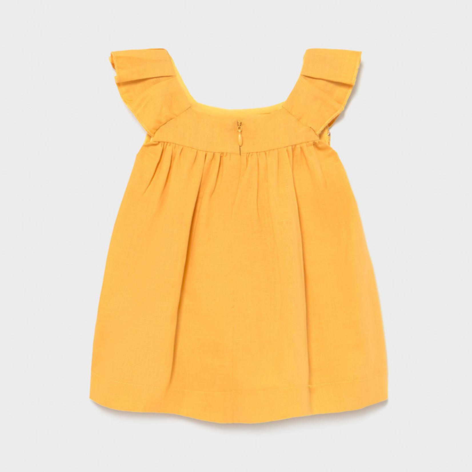 Mayoral Linen dress Mustard