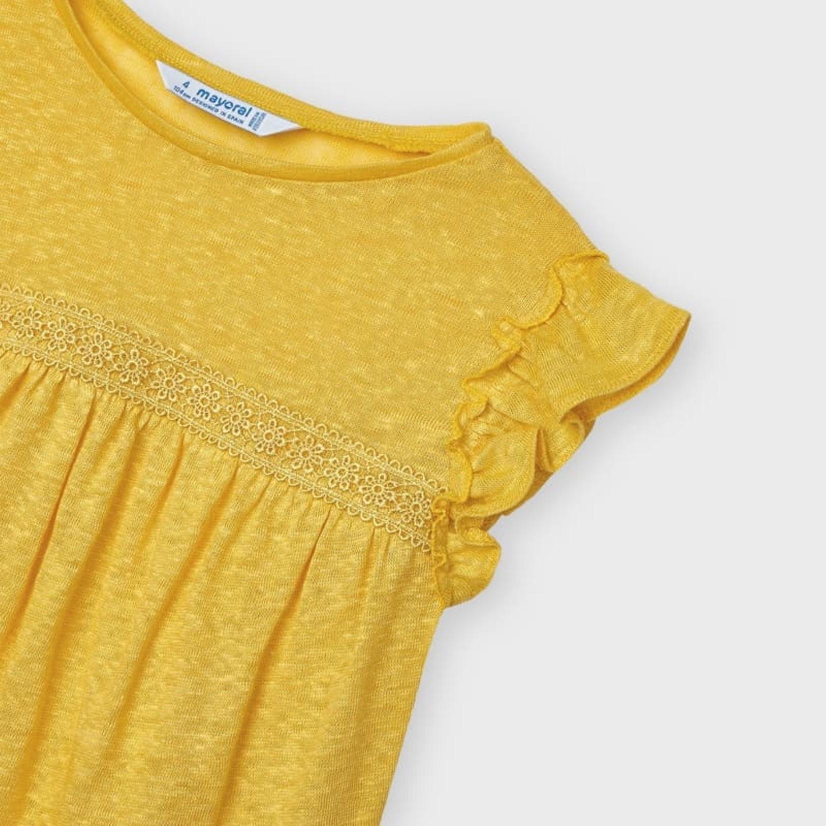 Mayoral linen s/s t-shirt  Mustard