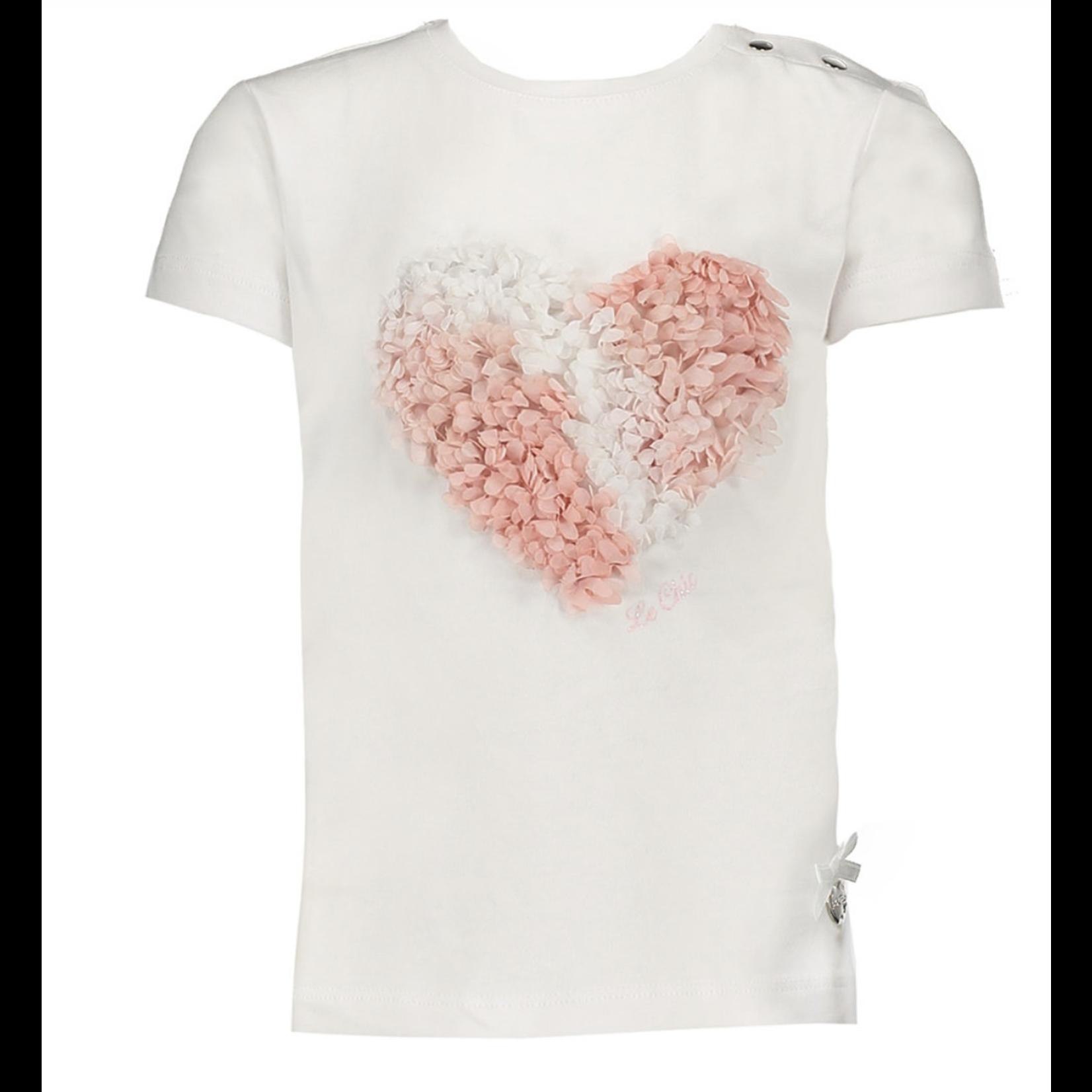 Le Chic T-shirt cotton 3D heart