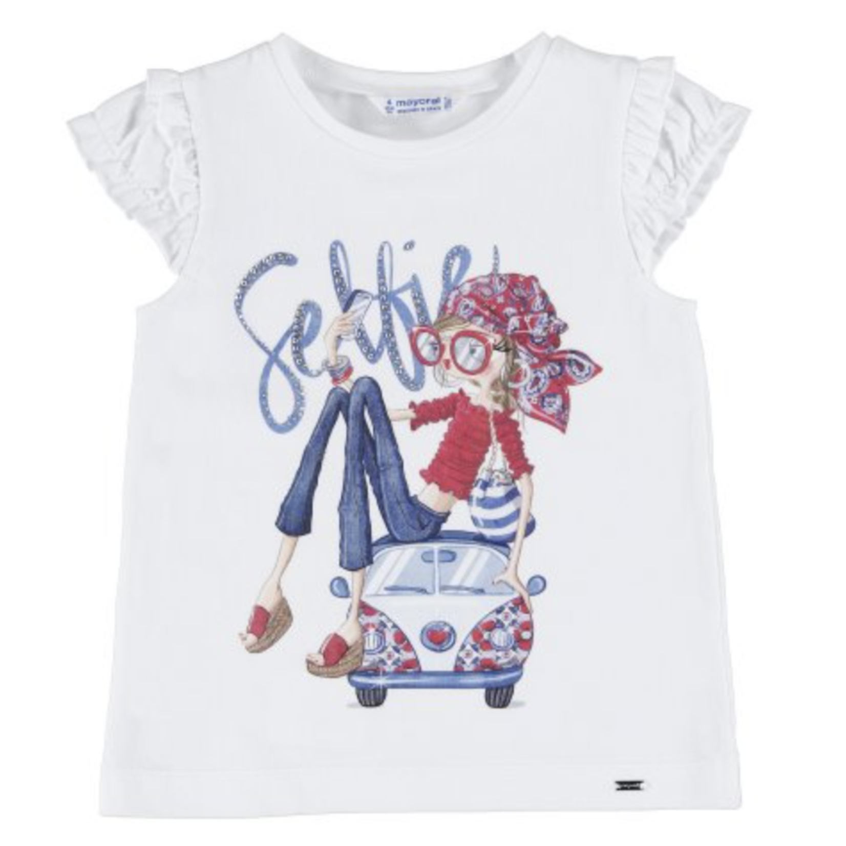 Mayoral S/s doll shirt  White