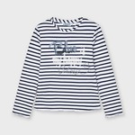 Mayoral L/s stripes t-shirt  Ink
