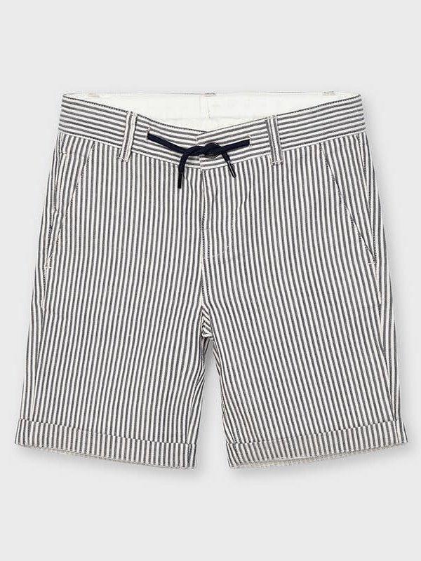 Mayoral Striped bermuda shorts  Navy