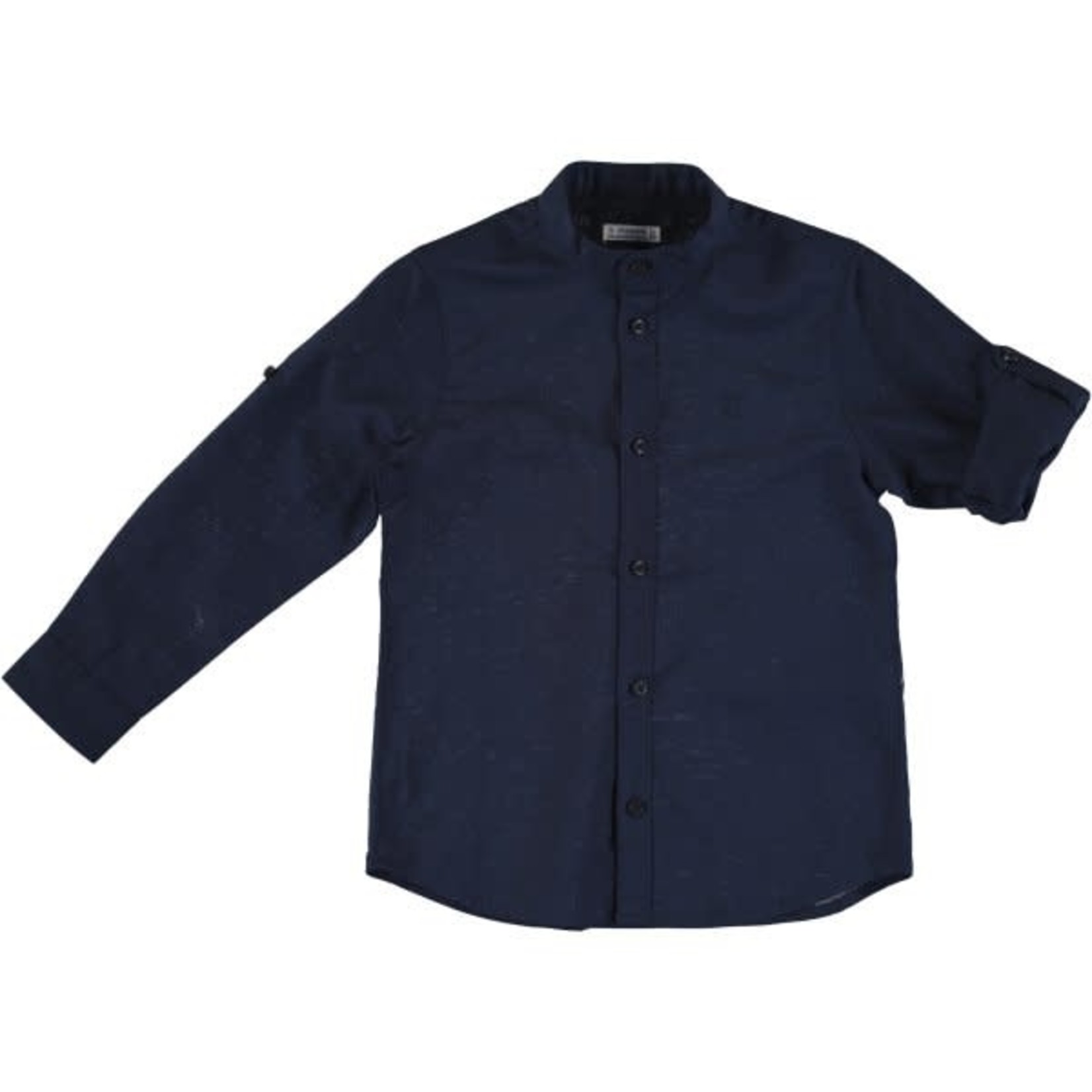 Mayoral linen l/s shirt   Navy