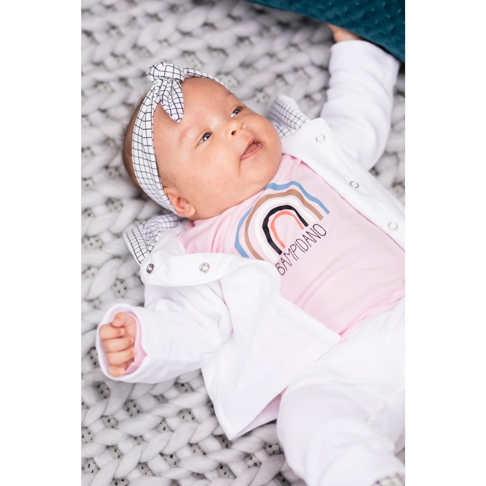 Little Bampidano Little Bampidano newborn girls longsleeve Fay plain with print SLOTH