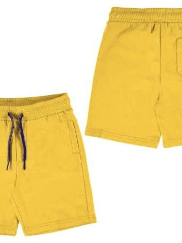 Mayoral Basic fleece shorts   Yellow