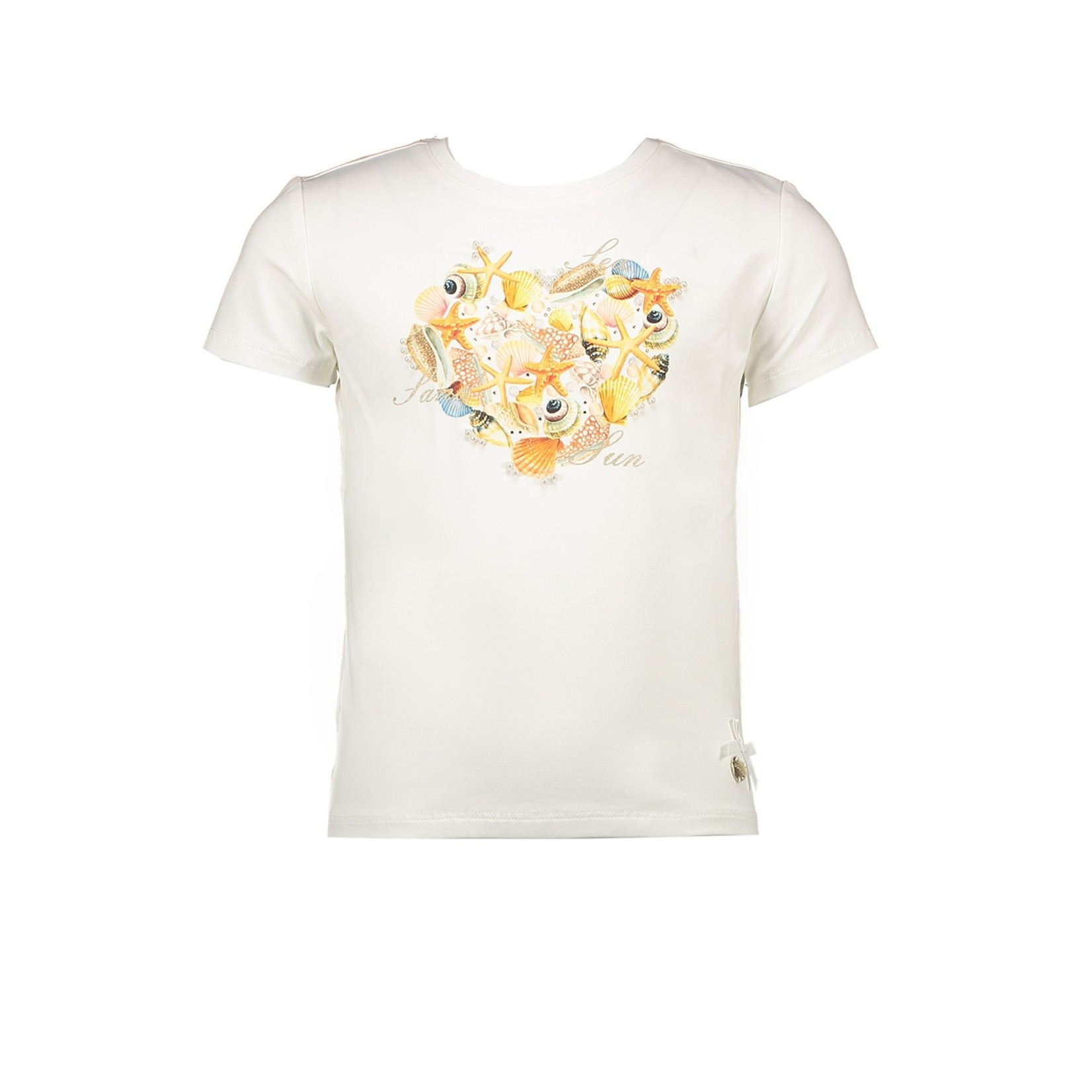 Le Chic Le Chic T-shirt heart made of shells