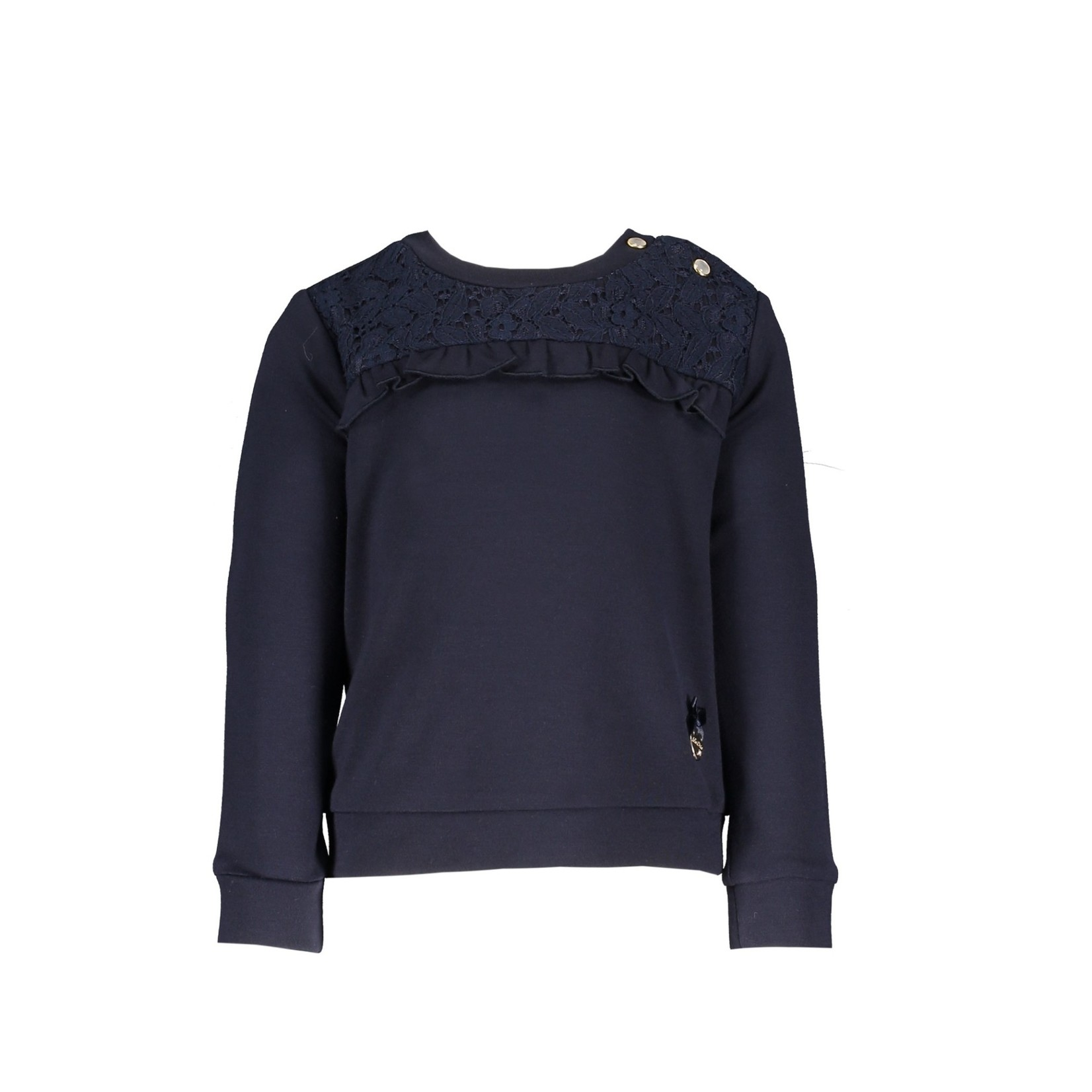 Le Chic Le Chic sweater ruffle & lace insert