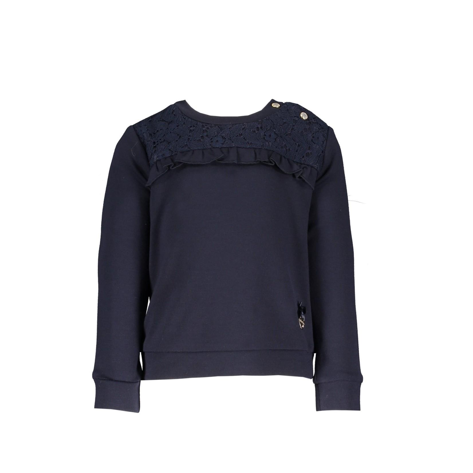 Le Chic sweater ruffle & lace insert