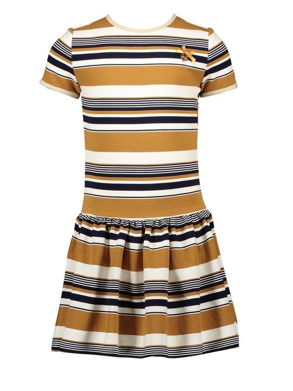 Le Chic dress relief stripe