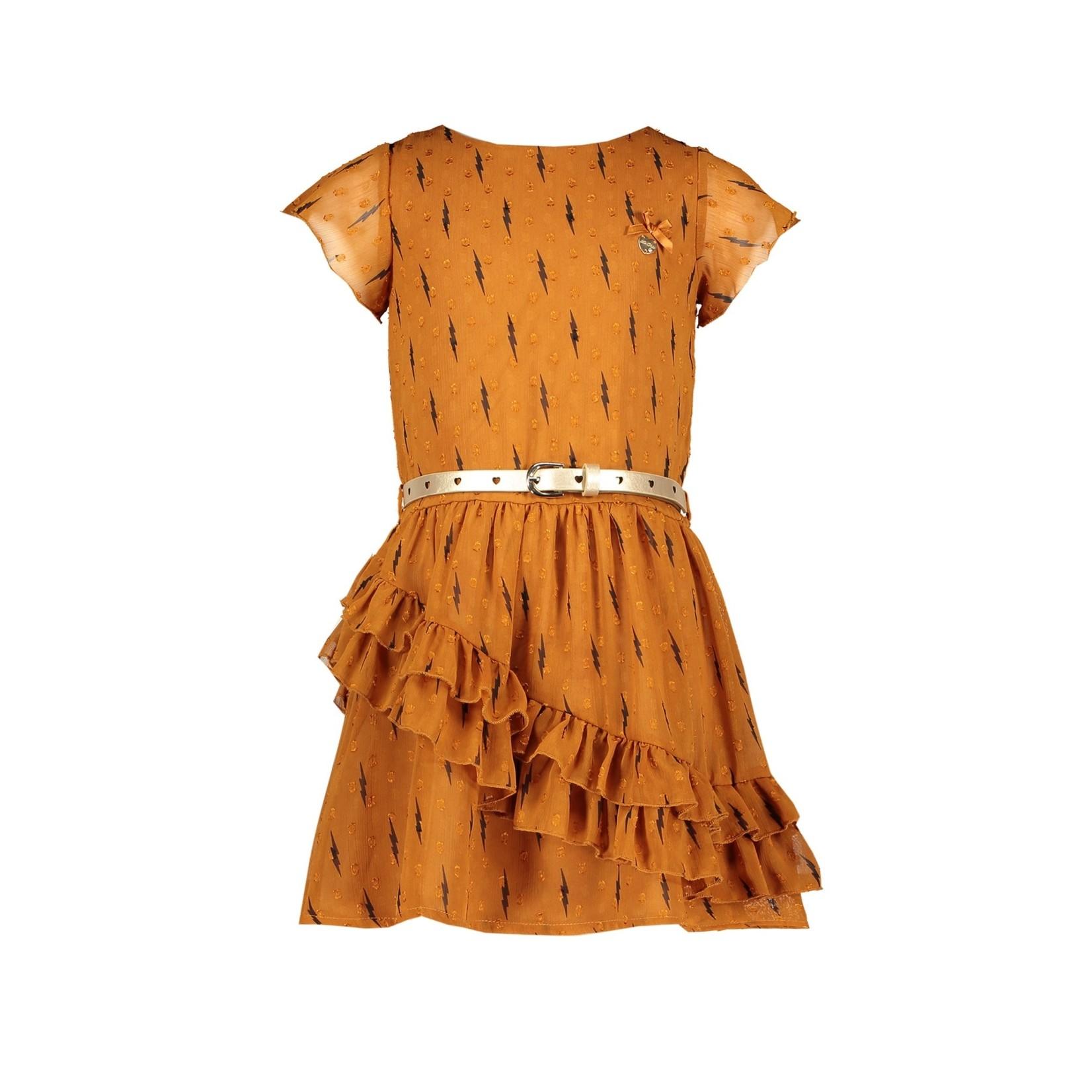 Le Chic Le Chic dress ruffles lightning & dots