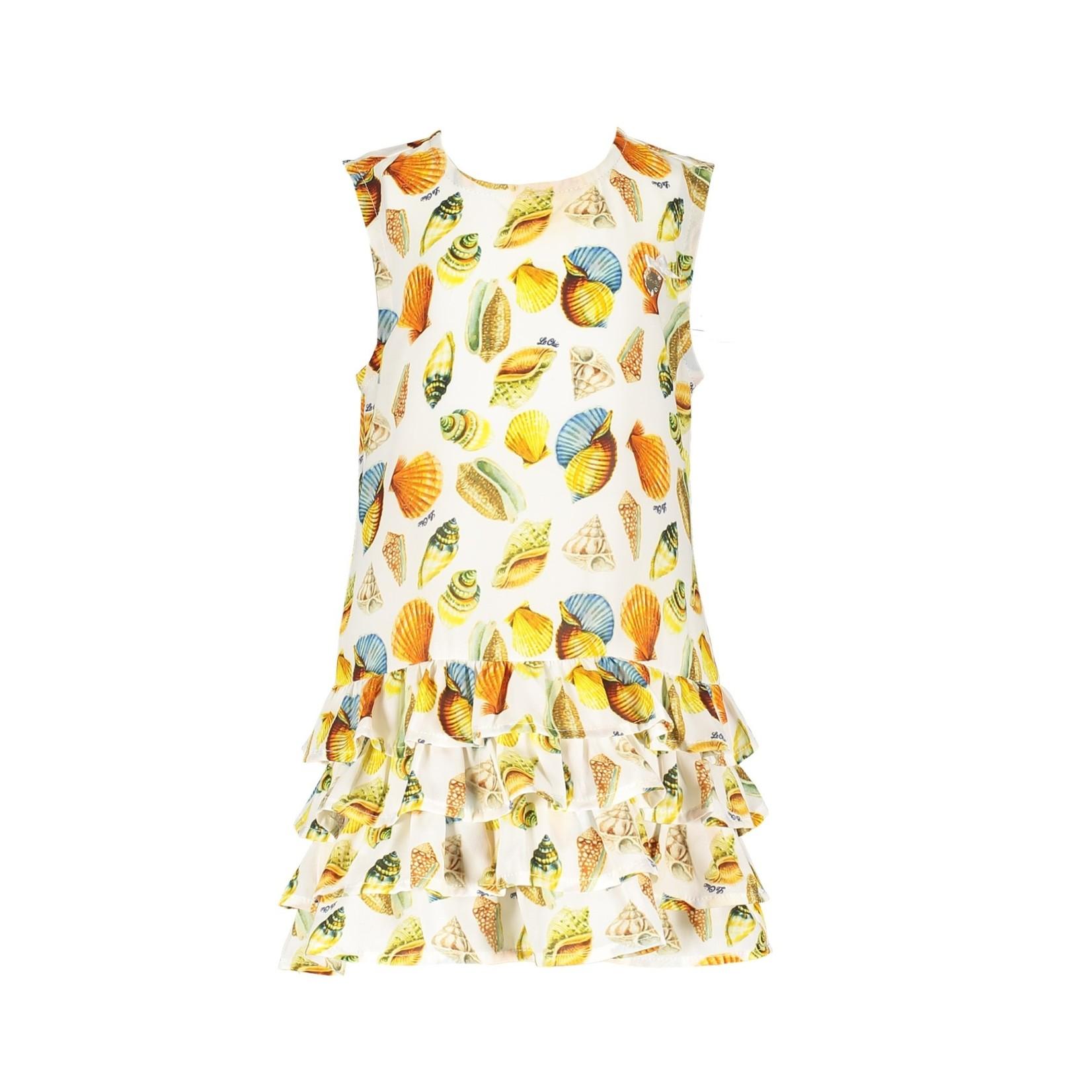 Le Chic dress watercolour seashells baby