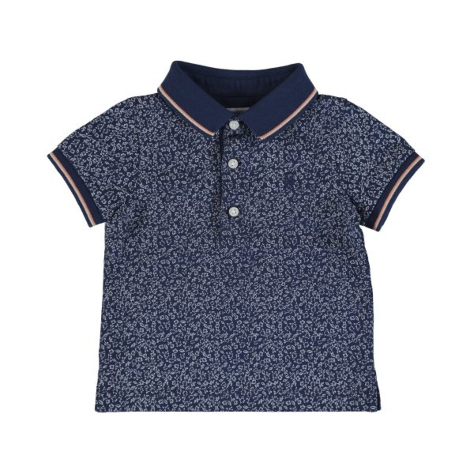 Mayoral S/s small print t-shirt      Blue