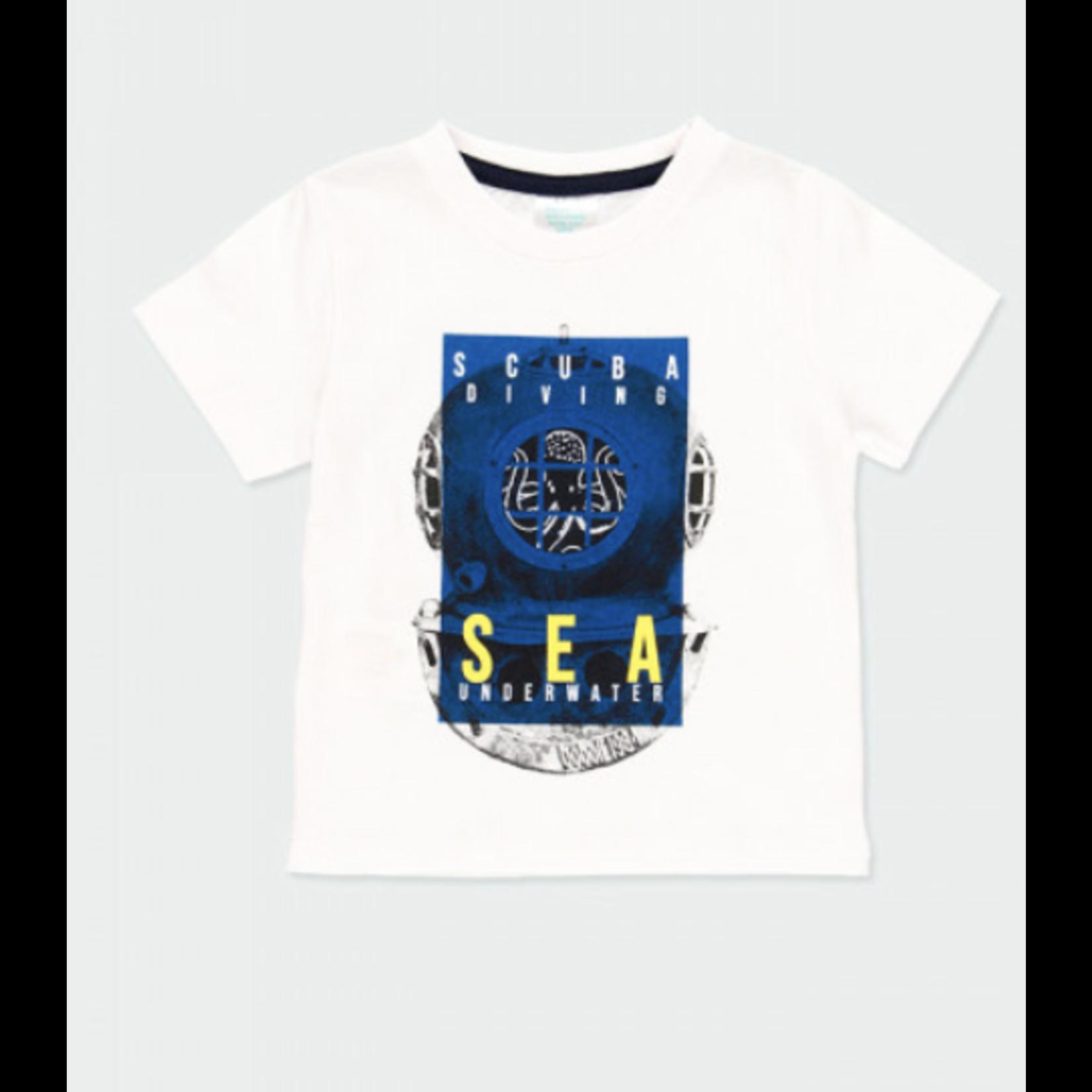 "Bóboli Knit t-Shirt ""sea world"" for baby boy"