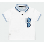 Bóboli Pique polo for baby boy met bril