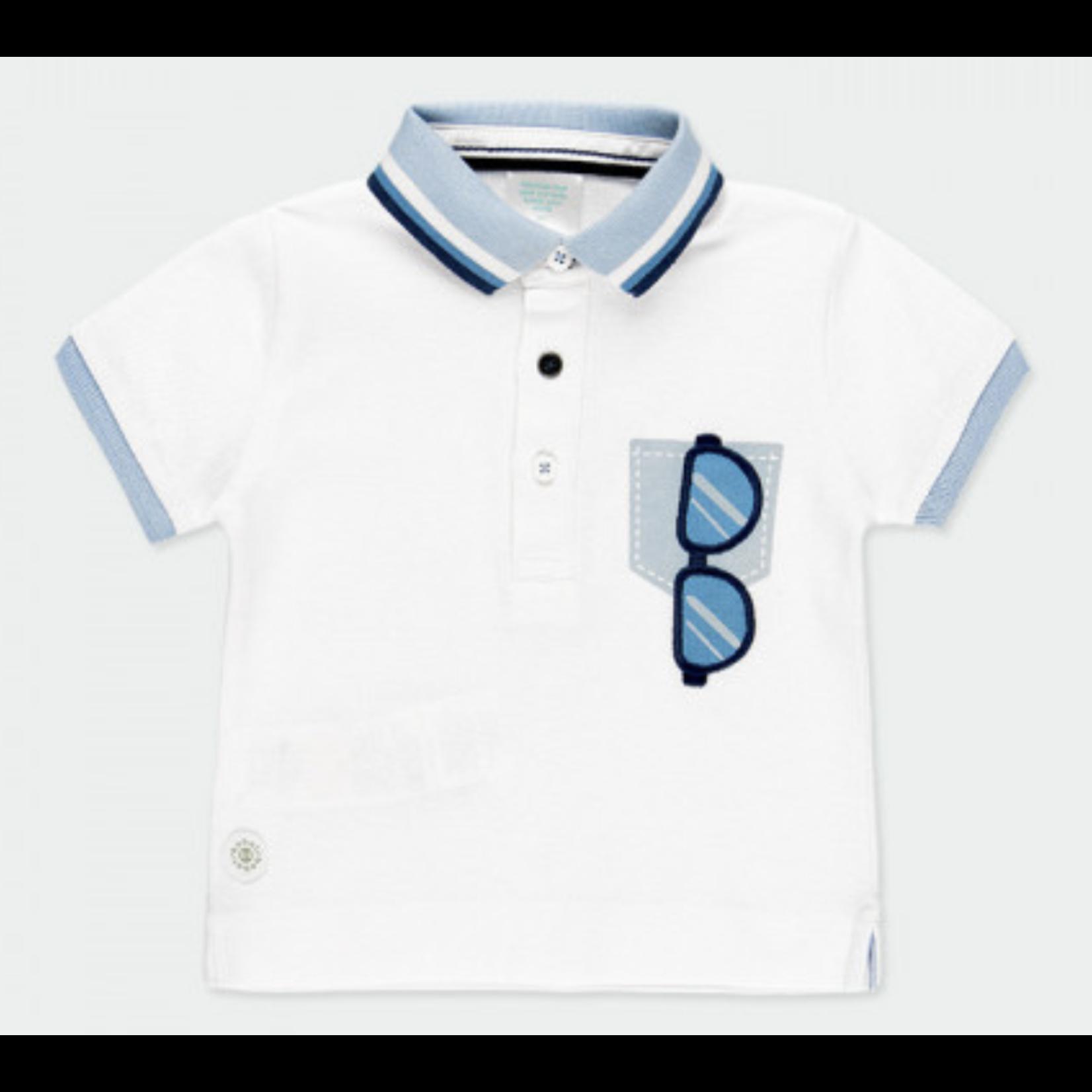 Bóboli Pique polo for baby boy met bril