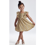 Mayoral Printed dress Mustard
