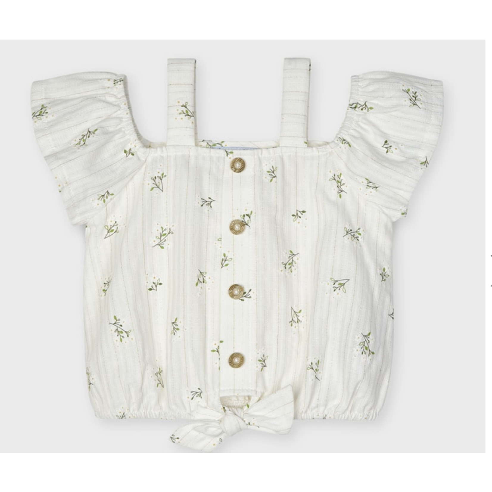 Mayoral patterned blouse  Natural