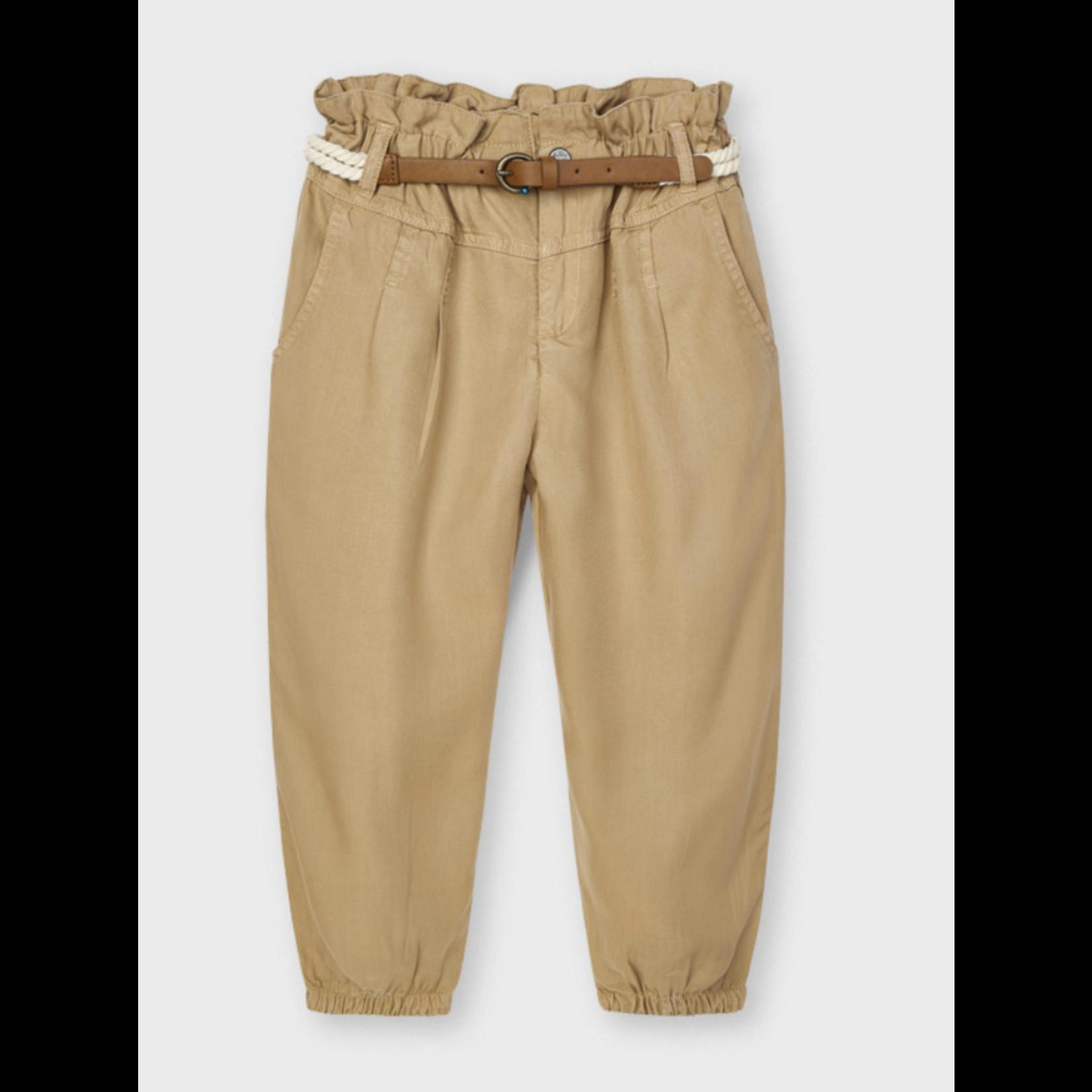 Mayoral long pant with belt Caramel