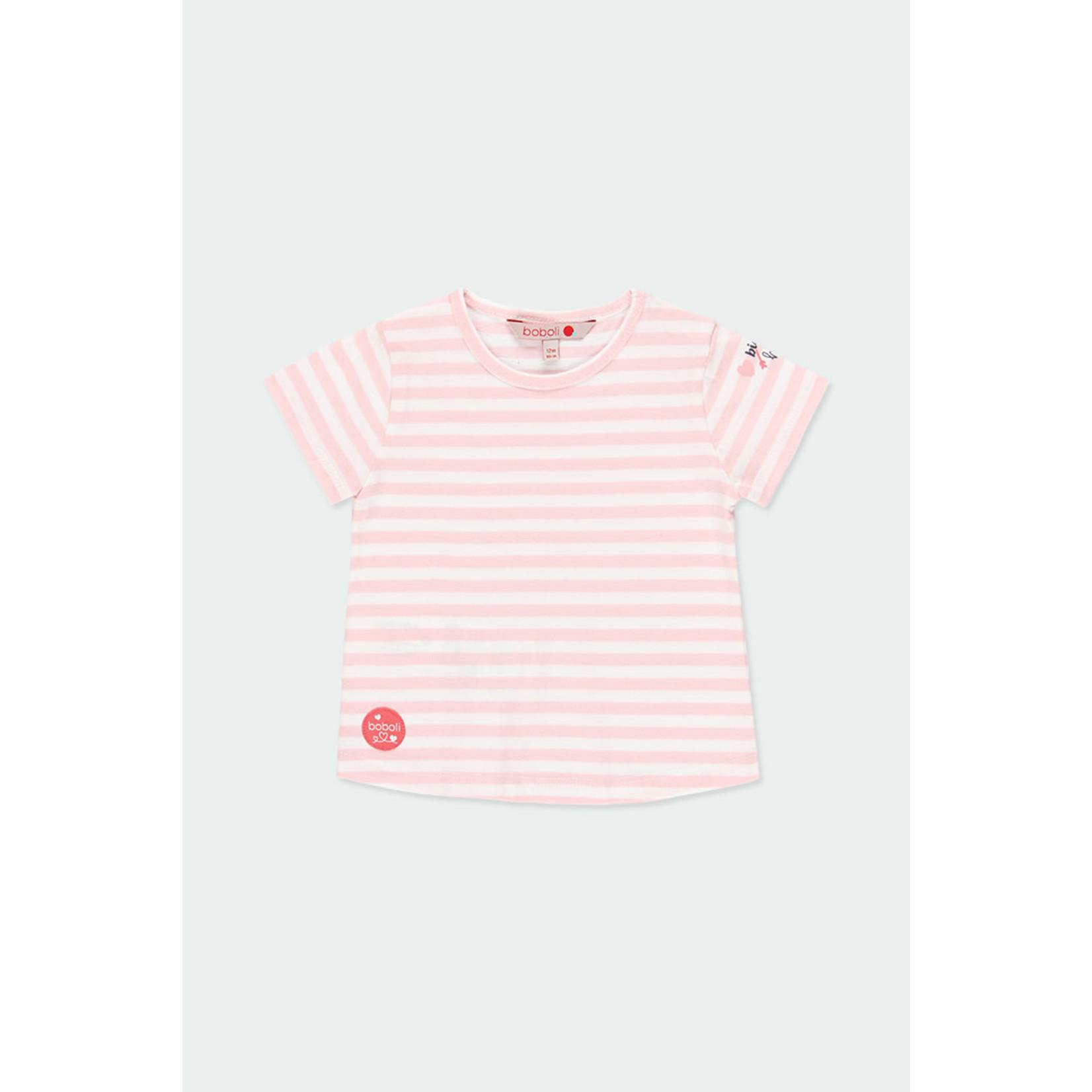 Bóboli Knit t-Shirt striped for baby girl