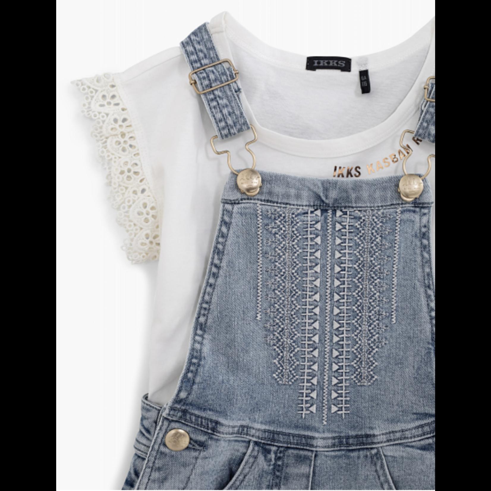 IKKS Set jeans playsuit met bijpassend t-shirt  XS37022