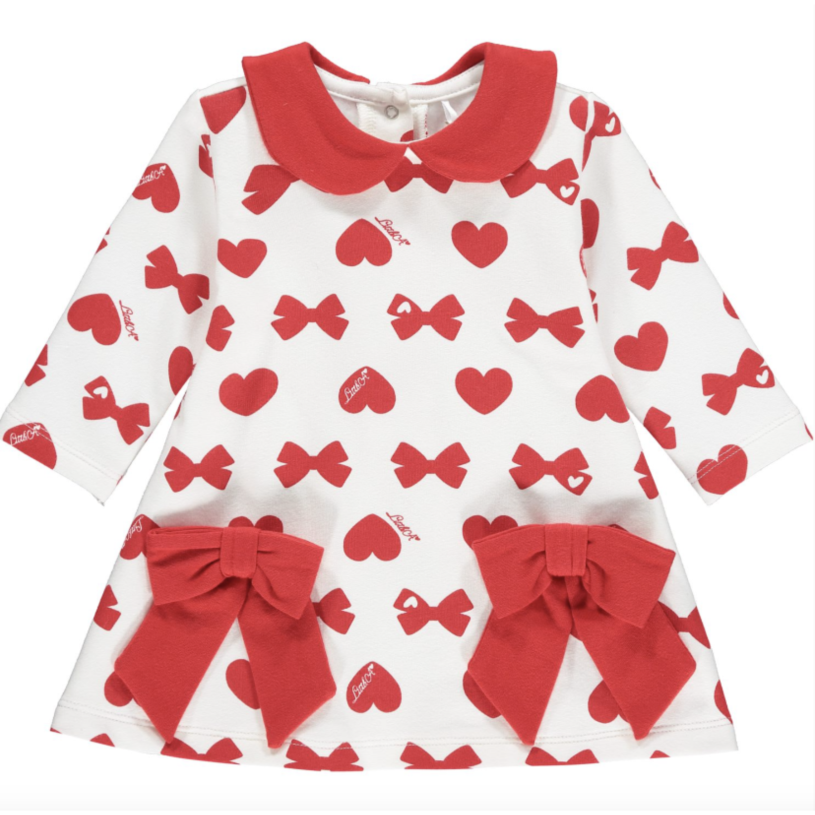 Little A'dee Bows & Hearts print dress