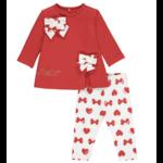 Little A'dee Bows & Hearts print legging set