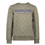Le Chic Garçon OLIVER Ç-logo AOP sweater