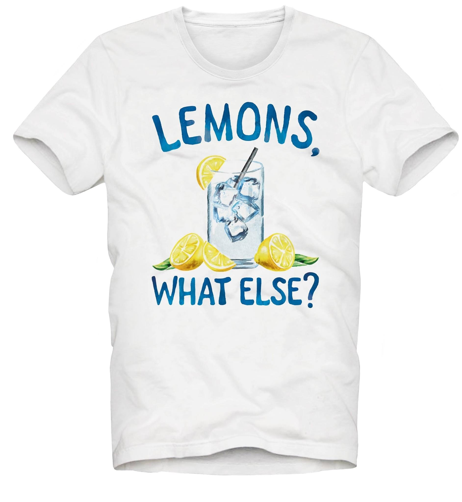 Lemon Print T-Shirt-1