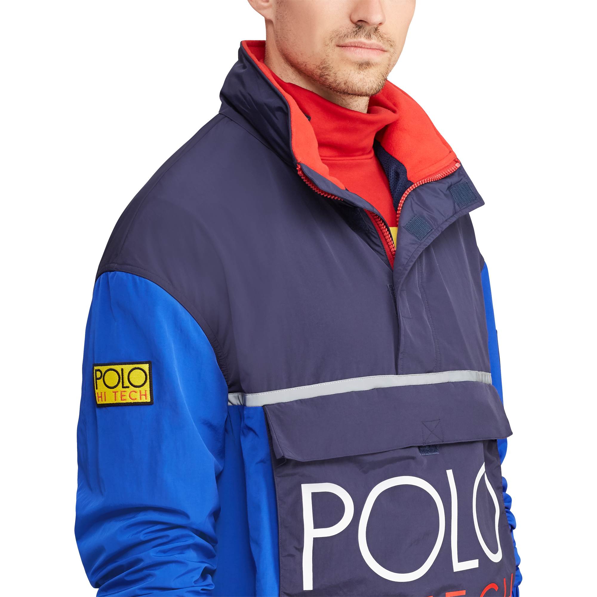 Hi Tech Colour Blocked Pullover-2