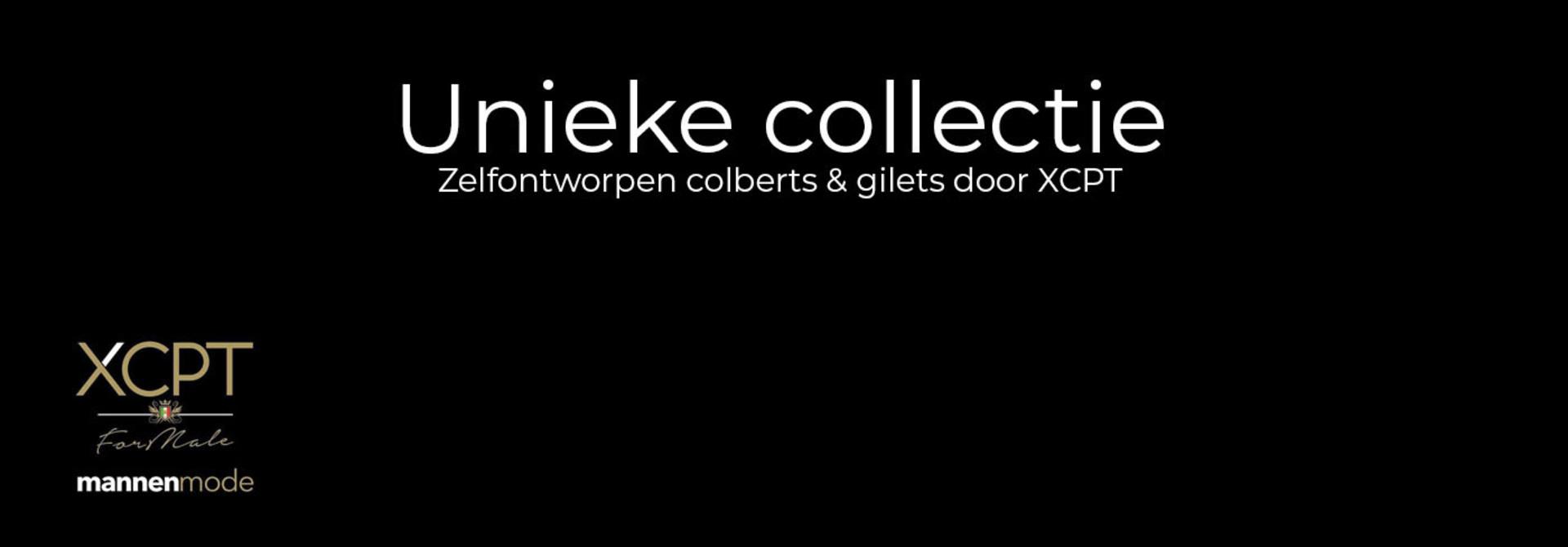 Unieke collectie: zelfontworpen colberts en gilets door XCPT!