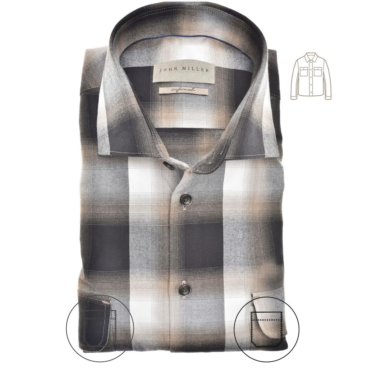Geruit overshirt-2