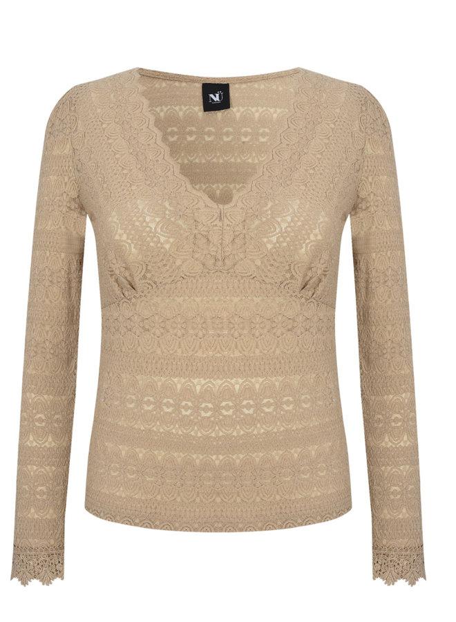 Gro blouse V-neck Camel