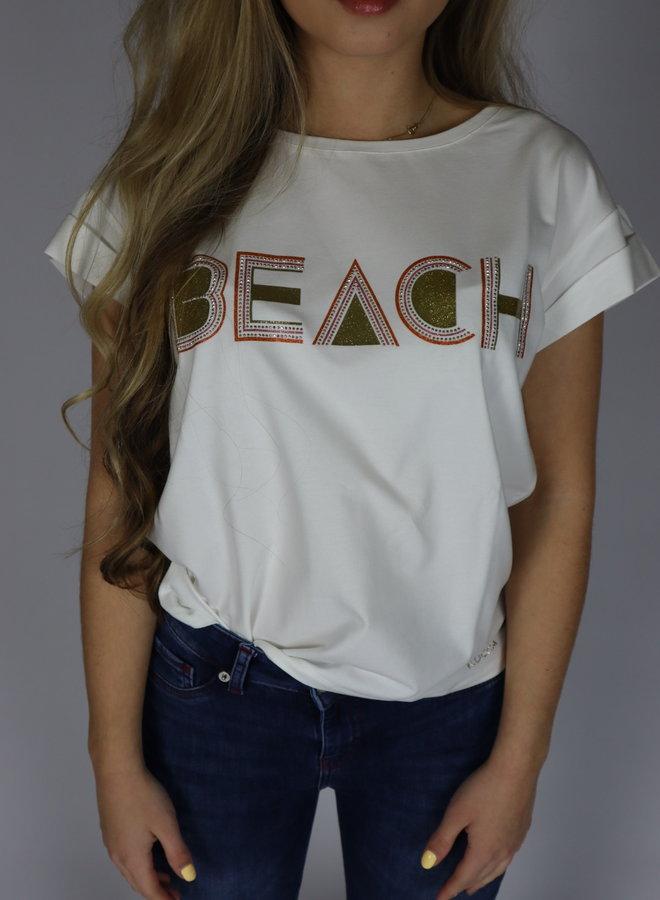 T shirt wit-kocca