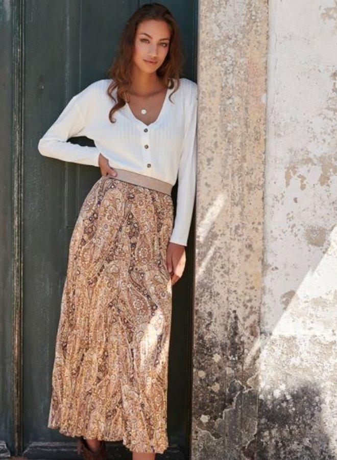 Skirt Brown Paisley - Esqualo