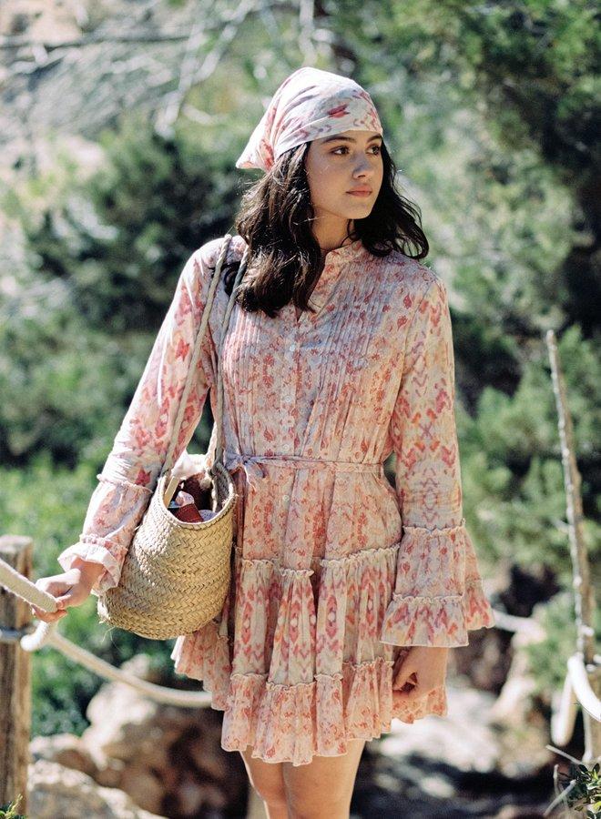 Korte jurk roze kleuren - Isla Ibiza