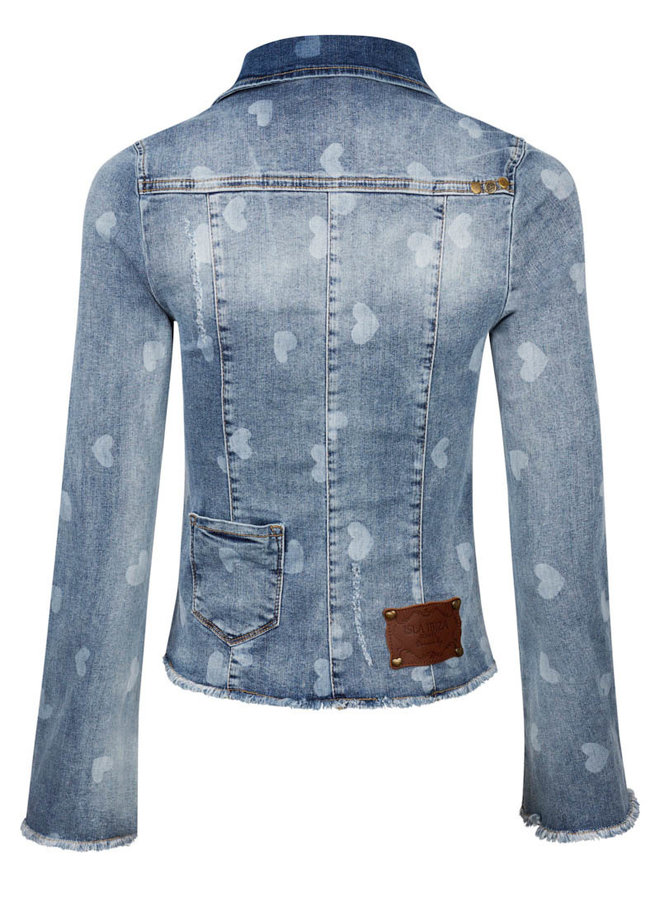 Jeans jacket hartjes  - Isla Ibiza