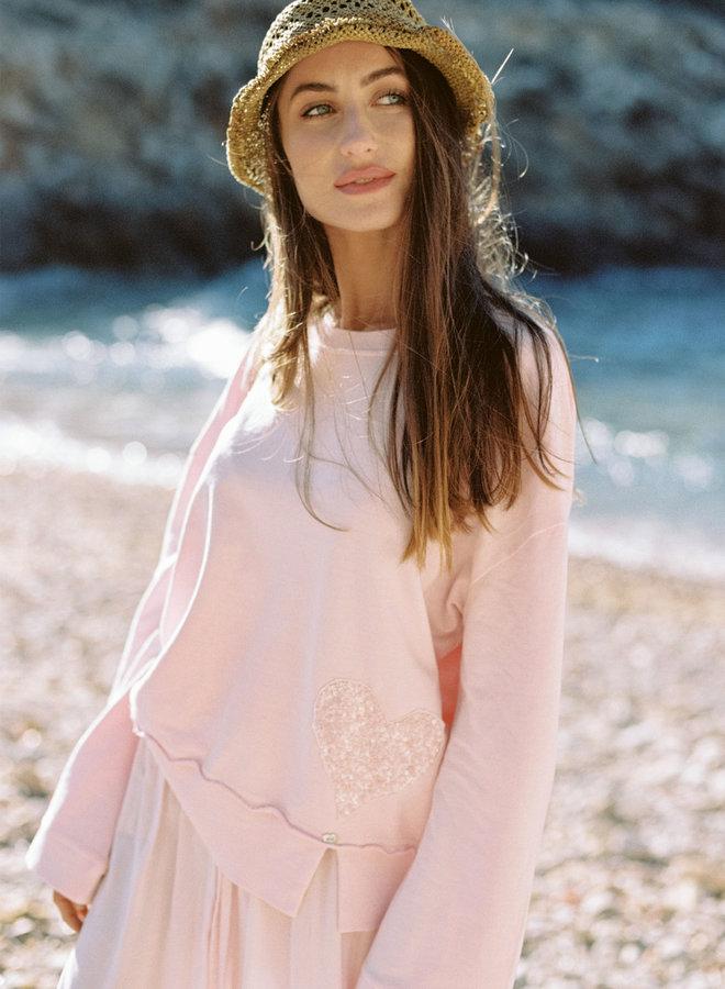 Sweater oversized roze  - Isla Ibiza