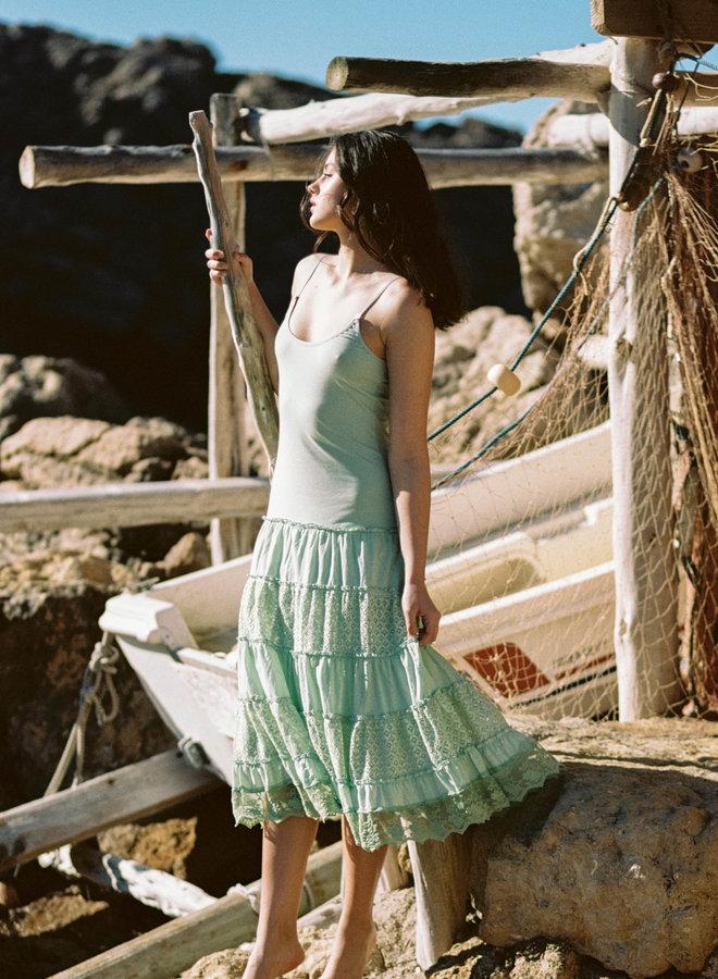 Jurk groen lang -  Isla Ibiza