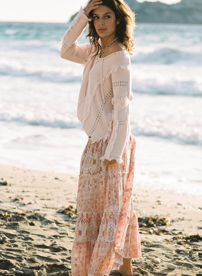 Lange rok roze kleuren - Isla Ibiza
