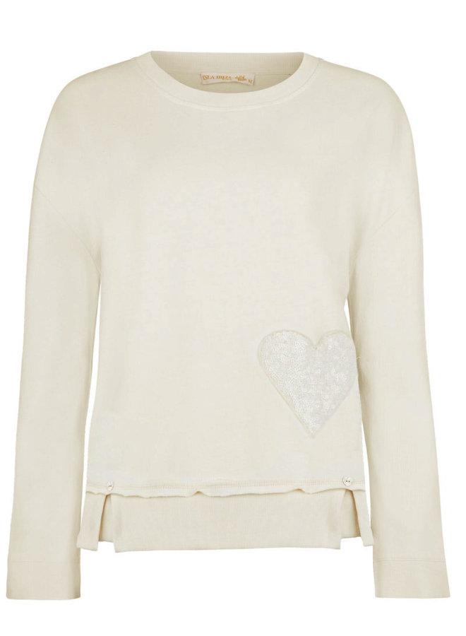 Sweater oversized cream  - Isla Ibiza