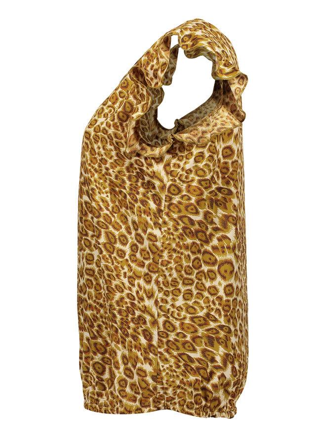 Top Leopard ruffle - Geisha