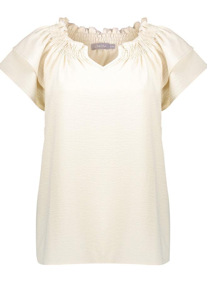 Vintage off white shirt - Geisha