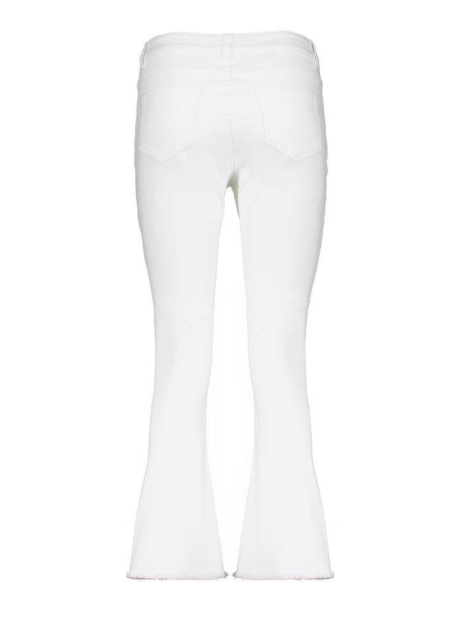 Flare pants short wit - Geisha