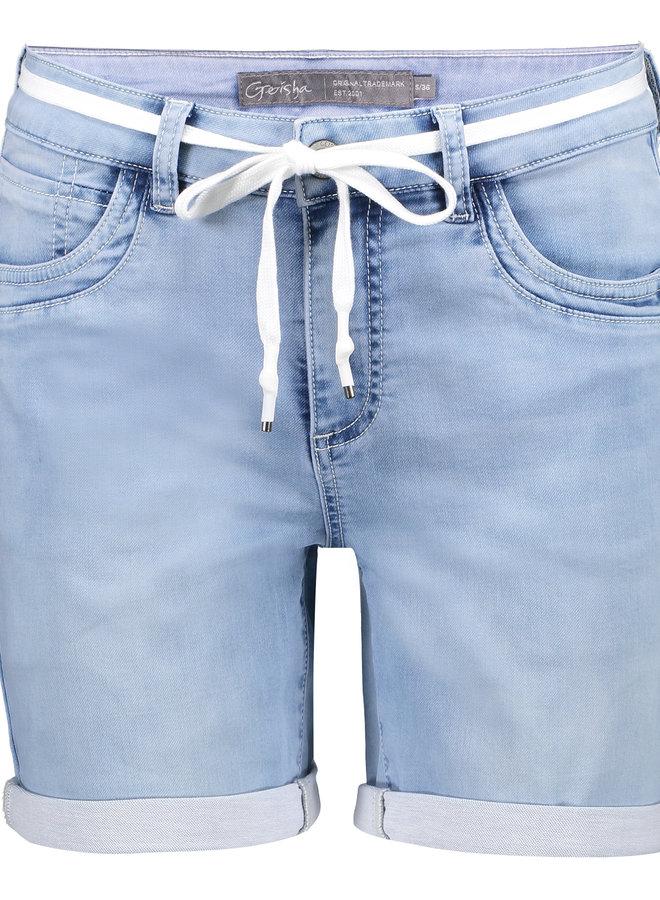Short white denim pants - Geisha