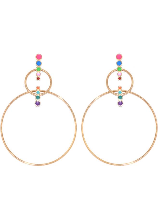 Mini me double hoop earring - Juli Dans