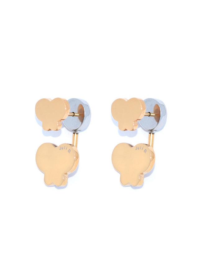 Mini me double butterfly earring - Juli Dans
